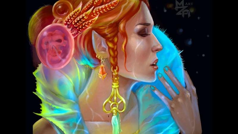 Портрет Ксении Рогутенок в образе Triss Merigold (Speedpaint)