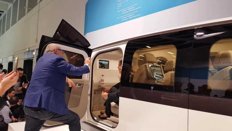 SkyWay представляет Юнибус 500 км-ч на InnoTrans2018
