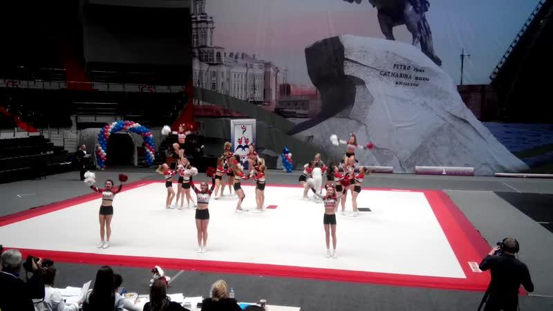 Всероссийские соревнования по чирлидингу Чирмания Питер 1 место Сибур Арена 02 12 2018