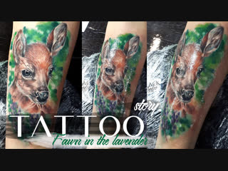 Tatto story fawn in the lavender