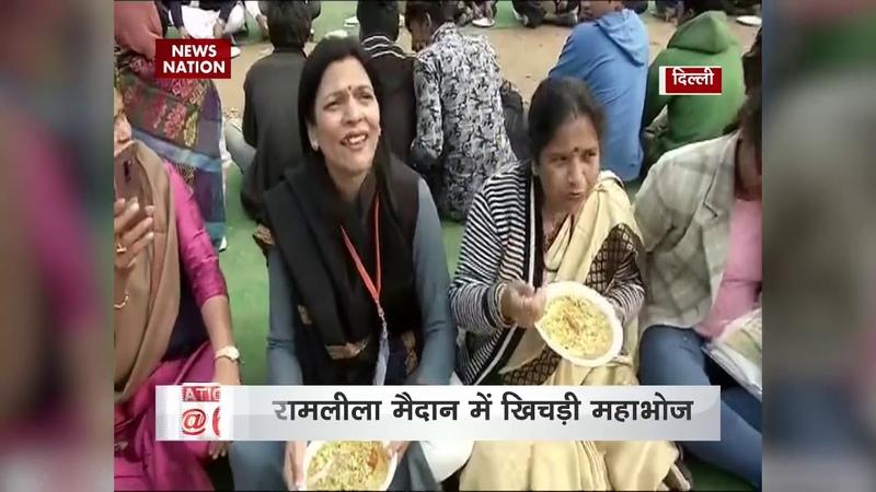 5,000-kg khichdi cooked at Delhis Ramlila Maidan