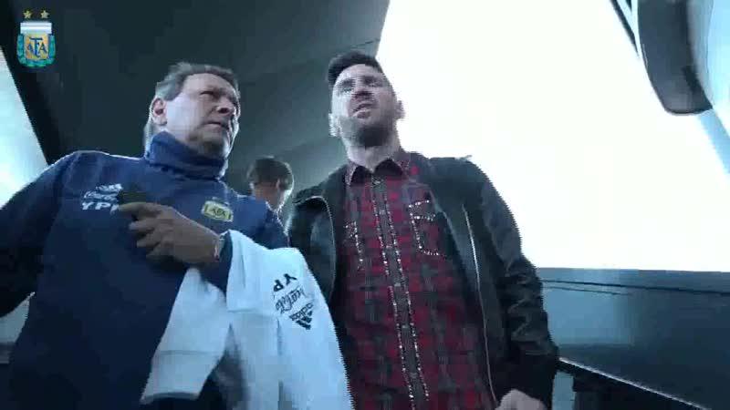 Месси прибыл в расположение сборной Аргентины