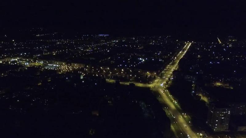 Нижний Тагил Вагонка ночью с высоты
