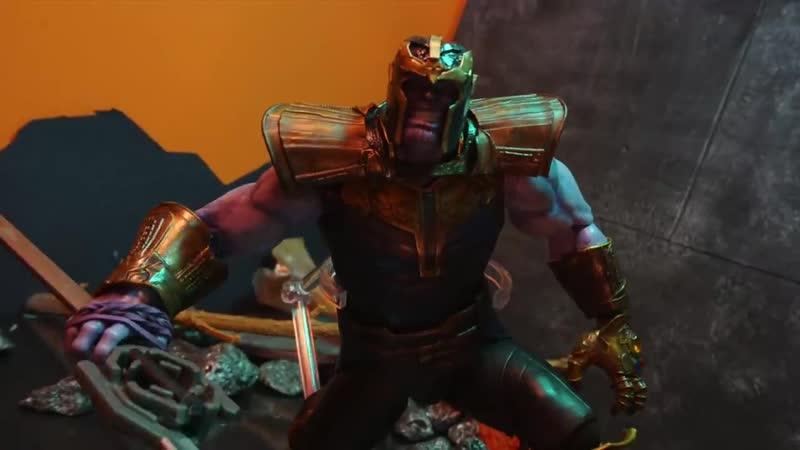 Endgame Captain America vs Thanos Scene Stop-Motion Recreation