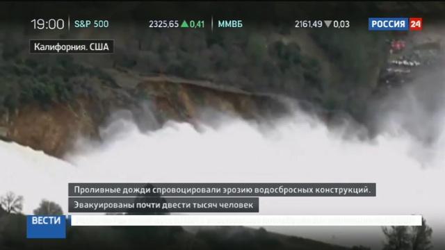 Новости на Россия 24 • Промоину взбесившейся плотины в США бомбили камнями с вертолетов