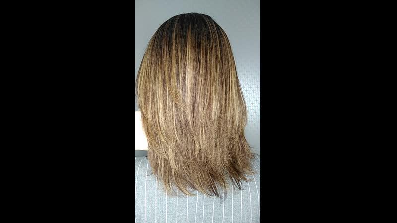 После процедуры ботокс волос ИНОАР