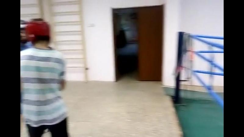 Тренировка юных боксёров (Клуб Троя, г. Уфа, Российская; тренер МСМК К. Москвин)