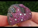 AUTHENTIC Salavetti Natural Ruby Fancy Black Diamond 18k Rose Gold Cocktail Ring - C358