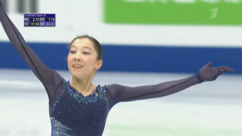 Elizabet Tursynbaeva. World 2019, SP, 3
