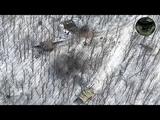 Украинские террористы уничтожили танк и позицию с ополченцами