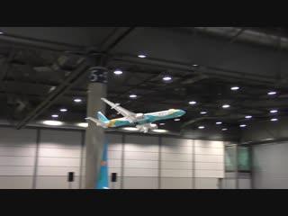 STUNNING RC BOEING-777 RC LIGHTWEIGHT 300 GRAM INDOOR AIRLINER FLIGHT DEMONSTRATION