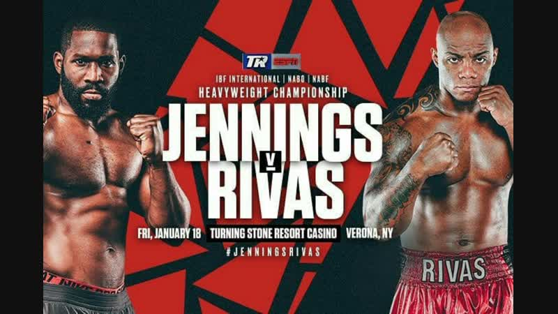 Брайант Дженнингс – Оскар Ривас (Bryant Jennings vs. Oscar Rivas) 18.10.2019