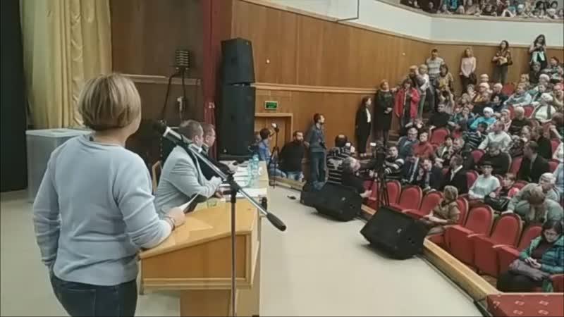 Очень эмоциональное обращение к депутатам. Северодвинск.