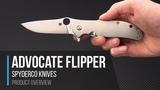 Spyderco Gayle Bradley Advocate CPM M4 Titanium Flipper Overview
