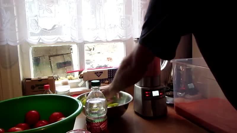 Семья Бровченко. Рецепт холодной аджики. Без термообработки.