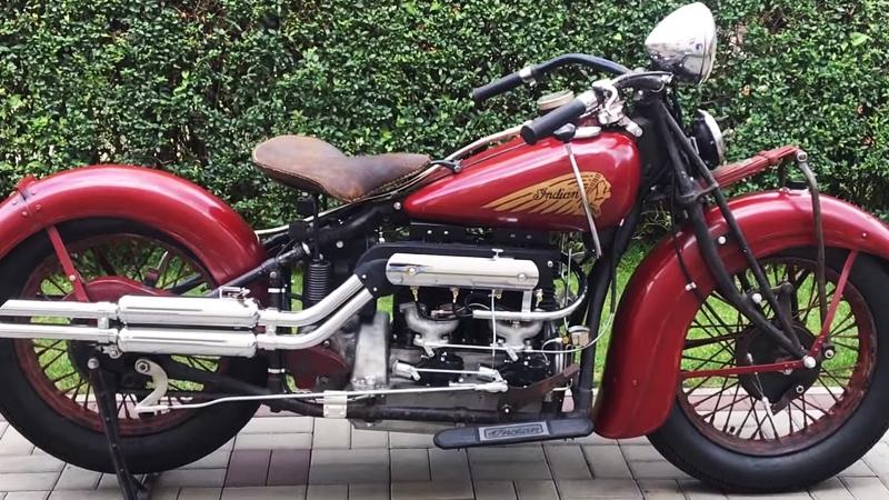 Мотоцикл Indian Four 437, 1937 года