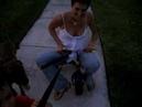 Mommy rides Landon's bike