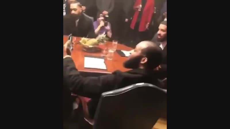 Meek Mill and Drake in the boardroom and on-set of the