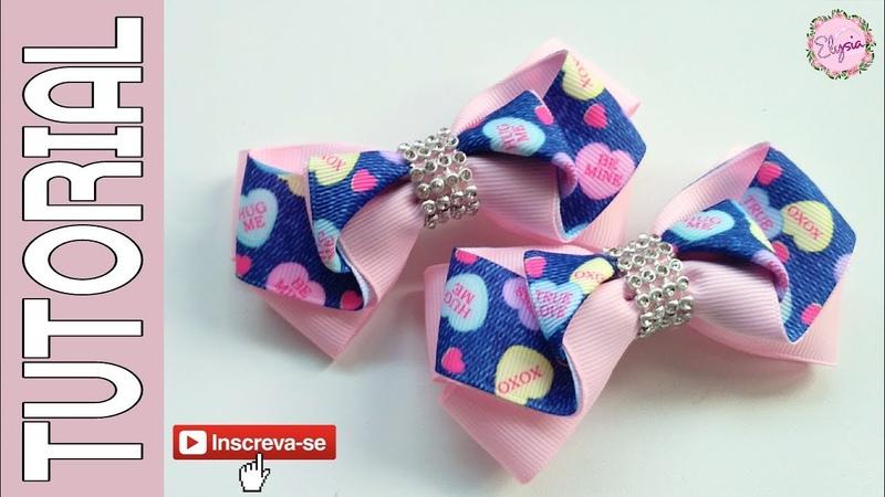 Laço Fanny Fita N5 🎀 Ribbon Bow Tutorial 🎀 DIY by Elysia Handmade