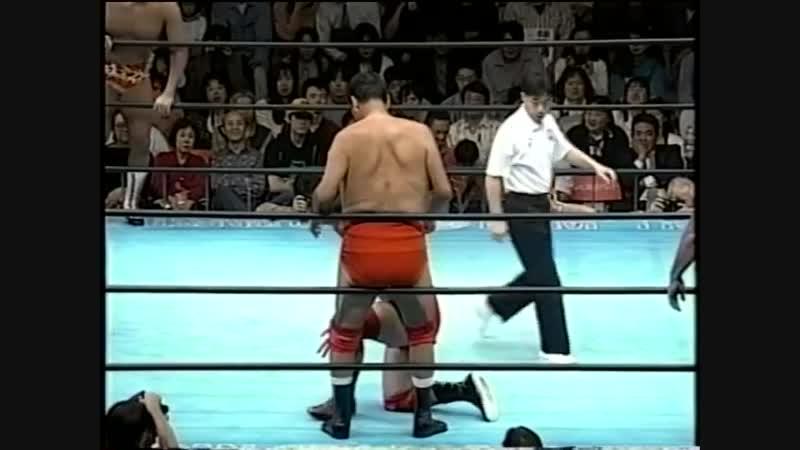 1995.09.30 - Giant Baba/Jumbo Tsuruta/Dory Funk Jr. vs. Jun Akiyama/Takao Omori/Tamon Honda