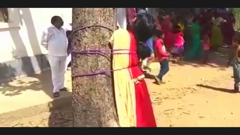 Muslim girl tied to tree in Bihar, thrashed on panchayat diktat for eloping with Hindu boy