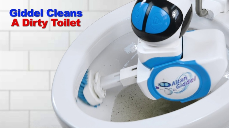 Giddel Cleans a Dirty Toilet Without Itself Getting Dirty