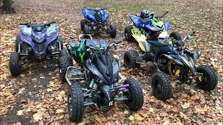 Квадроциклы в лесу / Crash Honda TRX700,Yamaha Raptor 700 YFZ450R, Aprilia moto .