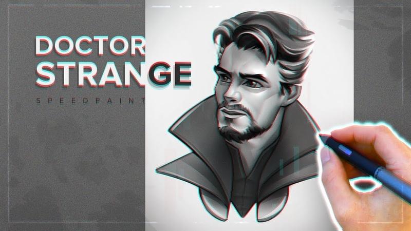 Doctor Strange   Drawing stylized portrait