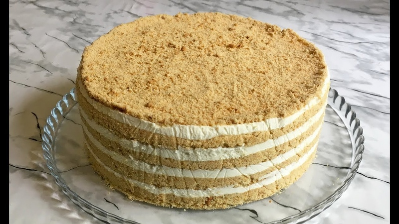 Торт из 4-х Ингредиентов Торт Без Выпечки Слоями Торт из Печенья Without Baking Cake