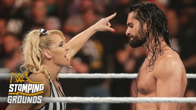 The Kingslayer Lacey Evans angers Seth Rollins with slow count WWE Stomping Grounds 2019 WWE Network Exclusive