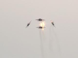 В Канске прошла генеральная репетиция полёта «Русских витязей»