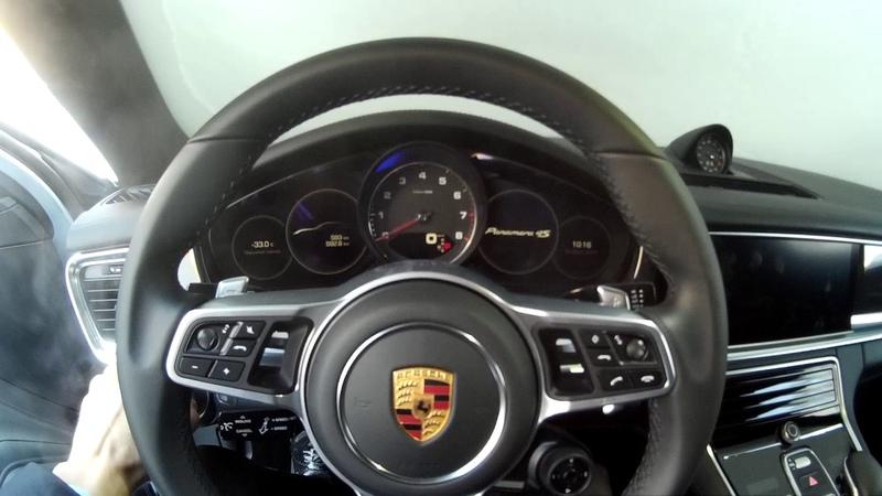 Запуск Porsche Panamera 4S(g2) в -33 t °С\ Cold start Porsche Panamera 4S(g2) -36.11 t °F