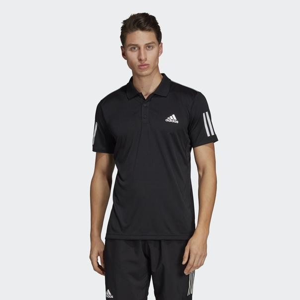 Футболка-поло для тенниса 3-Stripes Club
