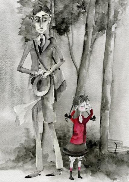 История про потерянную куклу и Кафку. Живя в Берлине, Франц Кафка каждый день прогуливался по парку. Там он однажды встретил маленькую девочку, которая потеряла куклу и громко плакала. Кафка