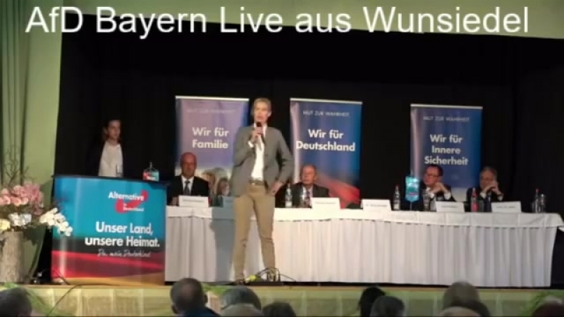 Völlig verrückt was in Deutschland abgeht ► Alice Weidel Wahlkampfrede in Wunsiedel Bayern