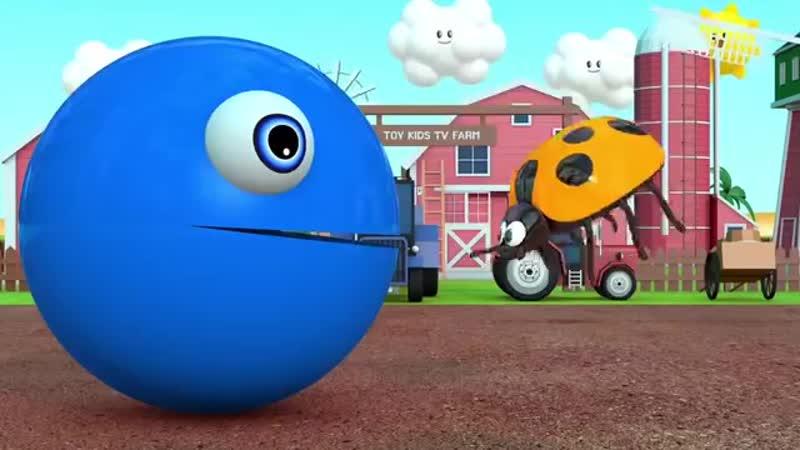 Изучаем цвета с PACMAN и Farm Watermelon m m Сюрприз Игрушечный уличный автомобиль для детей-детей