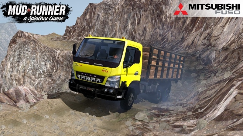 Spintires MudRunner - MITSUBISHI FUSO HD-X On the Mountain Trail