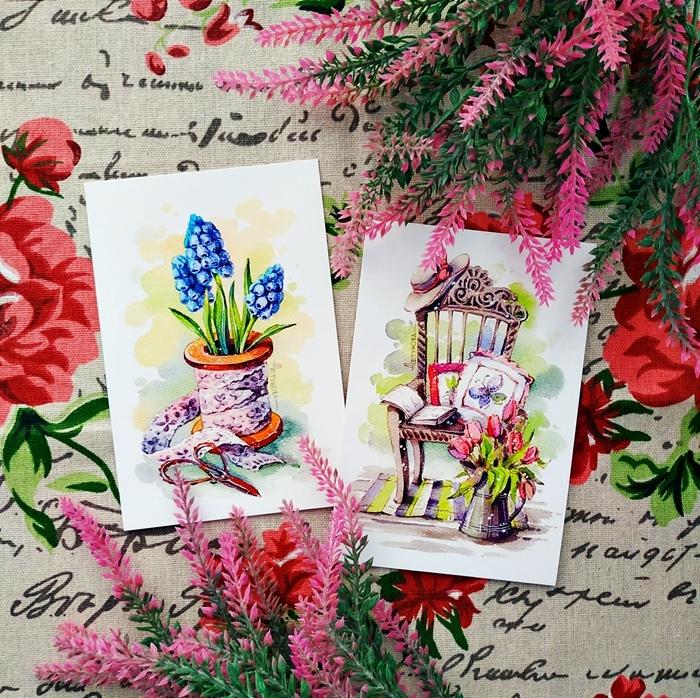 Лавка почтовых открыток, месяца