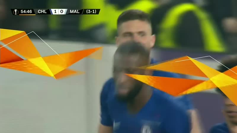 Chelsea vs Malmo EN VIVO: VIDEO GOL de Olivier Giroud para 1-0 por Europa League 2019 vía ESPN