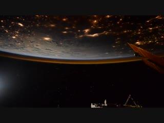 Таймлапс от командира Международной космической станции Олега Кононенко.