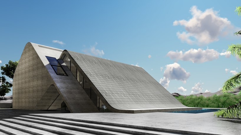 BMDesign's naturally ventilated house uses tesla solar cells to form a controllable skin