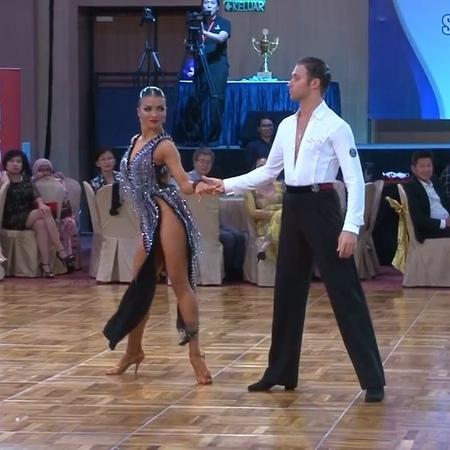 "DANCESPORT.RU on Instagram: ""Kirill Belorukov Polina Teleshova (RUS) at the World Championship Professional Latin in Samba. Thanks WDC youtube c..."