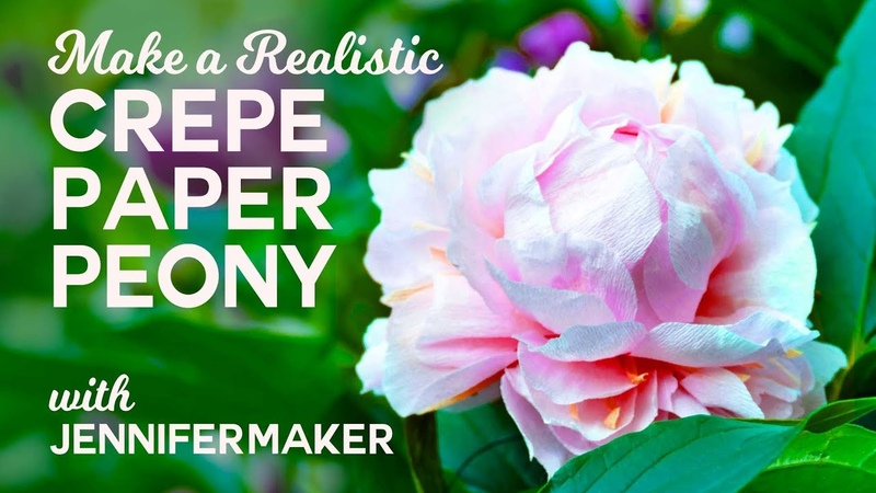 Make Crepe Paper Peony Flowers - Full Tutorial Free Pattern