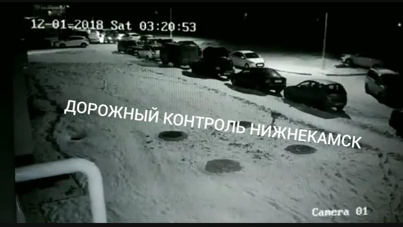 Видео момента ДТП на улице Гайнуллина