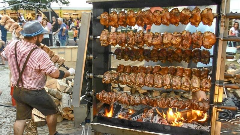 Huge Grills with Pork Shanks Austria Street Food