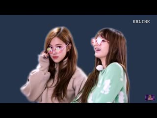 lisa annoying the living hell out of rosé just by repeatedly calling her name