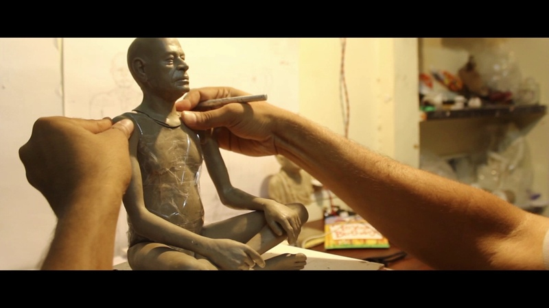 Vineesh Vijayan 1 4 Life Size Sculpture of Srila Prabhupada Making