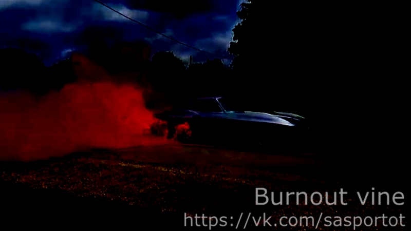 963 Corvette Burnout with Color Smoke Tires
