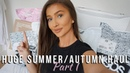 HUGE SUMMER/AUTUMN 2018 TRY-ON HAUL - PART 1 - ZARA, ASOS, TOPSHOP aliceoliviac