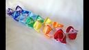 Маленькие радужные бантики на каждый день 8 см🎀МК🎀Laço de fita🎀Ribbon bow